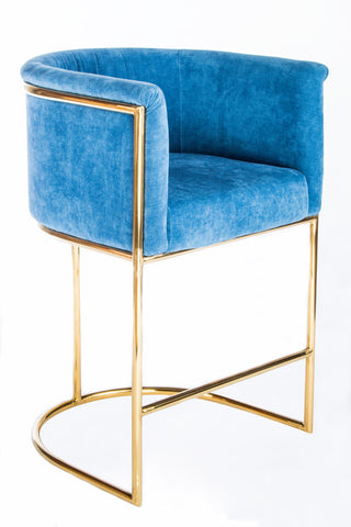 "J-102BLU-Mira Gold 26"" Counter Chair"