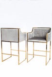 J-103-Erin Gold Bar Chair-PRE-ORDER