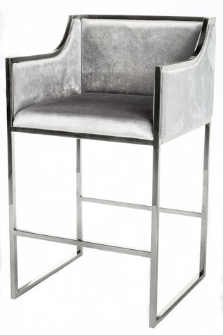 J-103S-Erin Gold Bar Chair with silver frame
