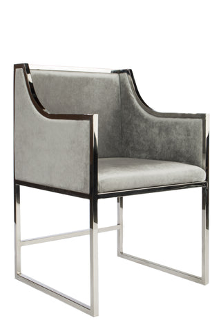 J-104SIL-Erin Silver Dining Chair-PRE-ORDER