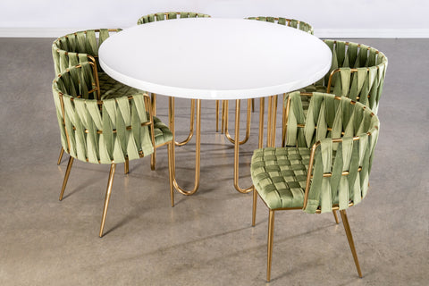 J-106-Willow Dining Set in Green