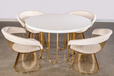 Willow Dining Set with 4 Platner Chairs