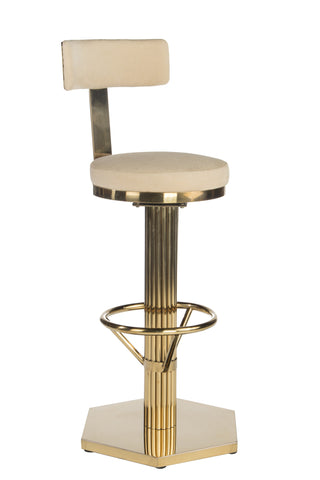 J-112-Oscar Swivel Gold Bar Chair