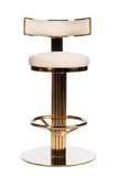 "J-112RB-Oscar Swivel 26"" Gold Counter Chair"