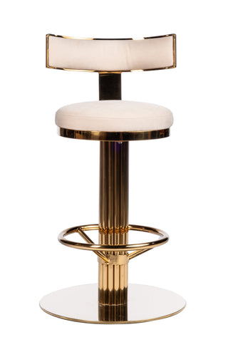 "PRE-ORDER-J-112RB-Oscar Swivel 26"" Gold Counter Chair"