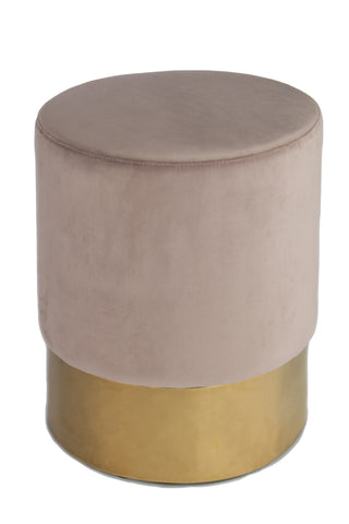 J-113-Paulette Pink and Gold Stool