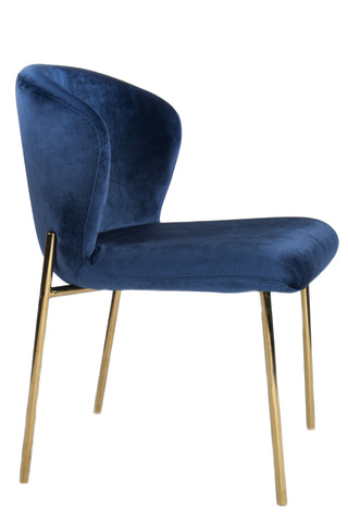 PRE-ORDER-J-116BLU-Jamie Dining Chair in Navy Blue