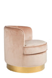 J-111B-Betty Brass base Tube Chair
