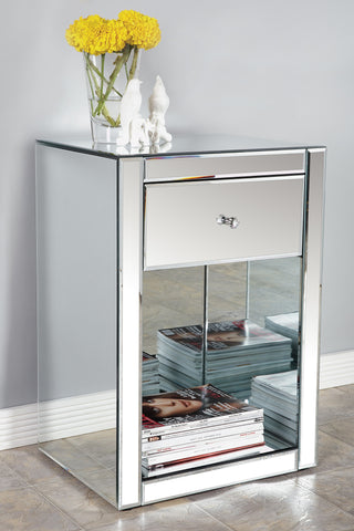JA005-Mirrored Nightstand