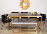 MJ188-Shilo Acrylic Gold Bench