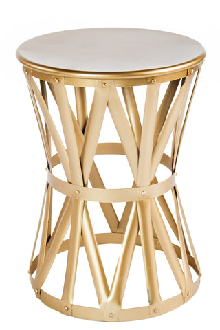 JS1289GLD-Laura Gold End Table