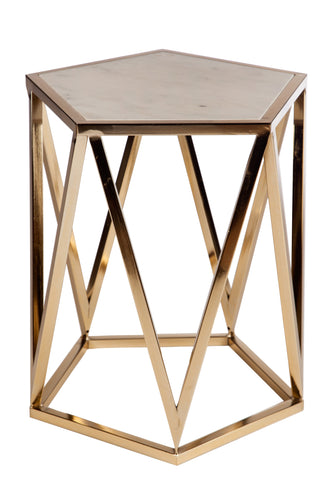 L170621 Charlyn Marble Top Side Table