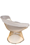 LC-2101GLDB-Soleil Platner Gold Accent Chair in Beige