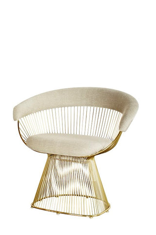 Enjoyable Lc 2101Gld Soleil Platner Gold Accent Chair Gamerscity Chair Design For Home Gamerscityorg