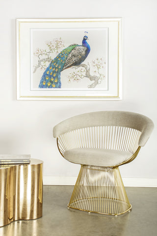 PRE-ORDER- LC-2101GLD-Mumu Platner Gold Accent Chair