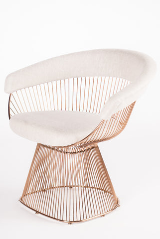 LC-2101ROSE-Soleil Platner Rose Gold Accent Chair