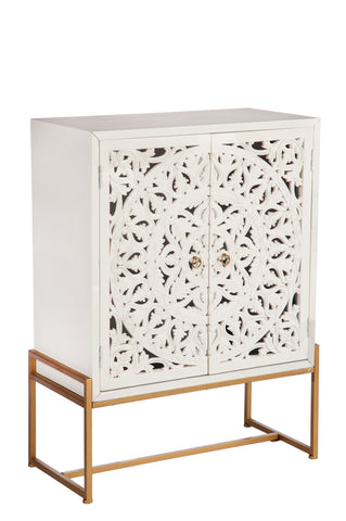 M170866P-Patricia Accent Cabinet-White and Gold