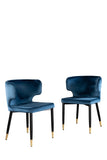 MC110-BLU-Kayla Upholstered Dining Chair in Blue Velvet