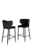 MC110B-BLK-Kayla Upholstered Bar Chair in Black