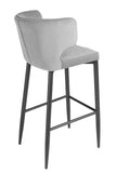 MC110B-GRY-Kayla Upholstered Bar Chair in Gray