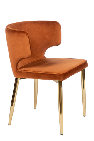 MC110-ORG-Kayla Upholstered Dining Chair in Amber