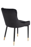 MC15-BLK-Merlin Diamond Upholstered Dining Chairs in Black
