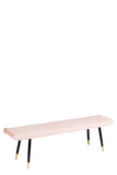 MC15D-PNK-Merlin Diamond Upholstered Bench in Blush