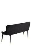 MC15SL-BLK-Merlin Diamond Upholstered Settee in Black