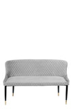 MC15SL-GRY-Merlin Diamond Upholstered Settee in Gray