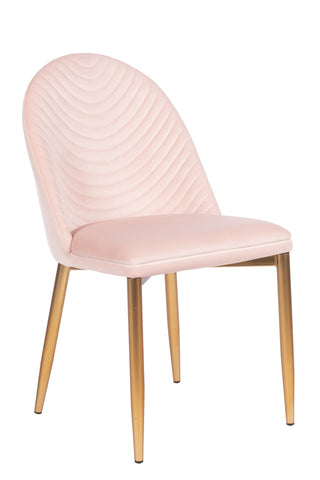 MC75-PNK-Wave Upholstered Dining Chair in Blush