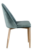 MC75-TEAL-Wave Upholstered Dining Chair in Teal