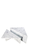 MF191103-S2-Grace set of 2 Marble design Coffee Table in White