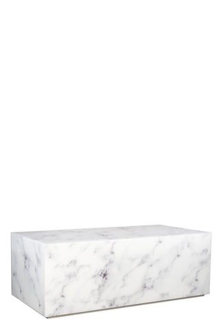 MF191105-Matteo Block Marble Design Coffee Table in White