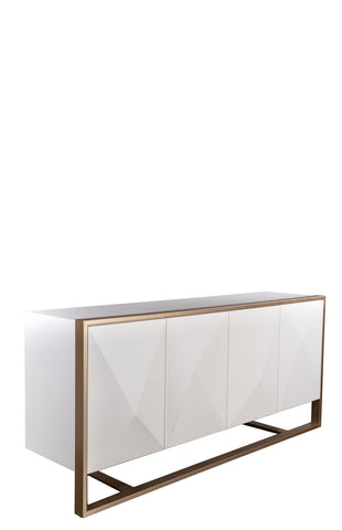 MF191112-Cleo Spike Wood Sideboard in White-PRE-ORDER