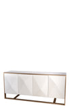 MF191112-Cleo Spike Wood Sideboard in White
