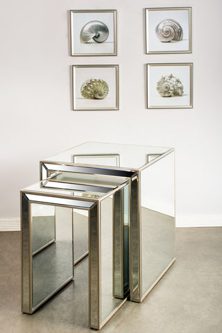 MF2031-Set/2 Nesting Mirrored Table