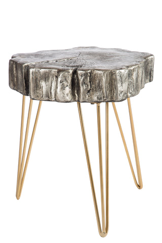 MJ068-D-Reese Log Side Table