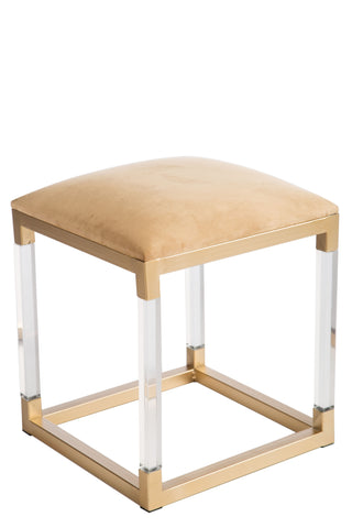 MJ127-Shilo Acrylic Gold Stool