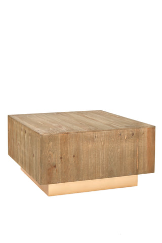 MJ411-Leo Wood Square Coffee Table