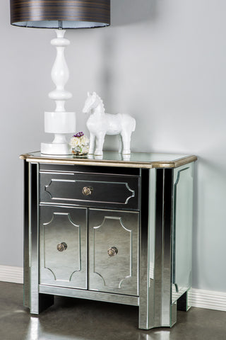 MS001-Hudson Mirrored Cabinet / Nightstand