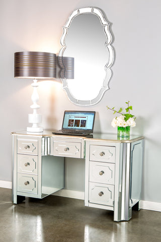 MS003-Hudson Mirrored Vanity Table / Desk