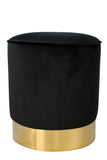 OOB3140BLK-Paulette Black and Gold Stool
