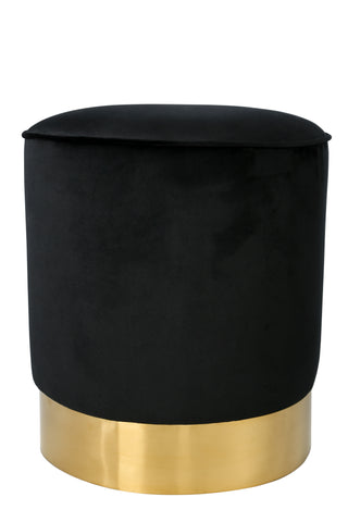 Oob3140blk Paulette Black And Gold Stool Statements By J
