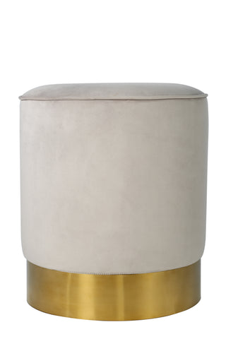 OOB3140GRY-Paulette Gray and Gold Stool