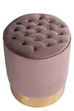 OOB3140PURP-Paulette Mauve and Gold Stool