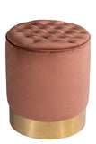OOB3140ROSE-Paulette Rose Tufted Stool