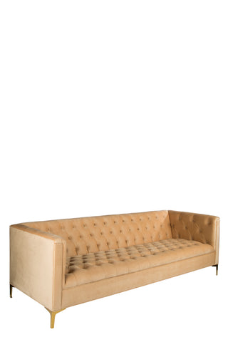 OSF1137SBG-Harper Tufted Sofa in Golden Honey