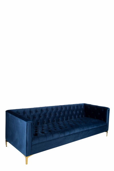 Navy Tufted Headboard By High Fashion Home: OSF1137SNB-Harper Tufted Sofa In Navy Blue
