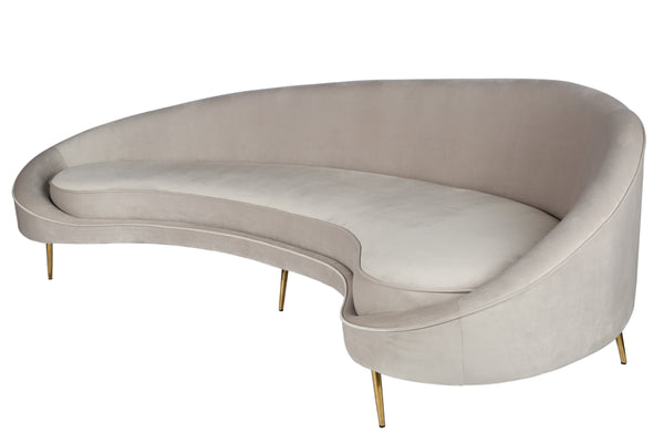 Osf11300gry Cleo Curved Sofa In Light Gray Statements By J