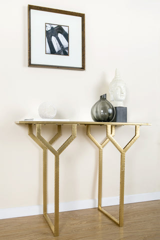 P145538P-Chriselle Console Table with mirrored top